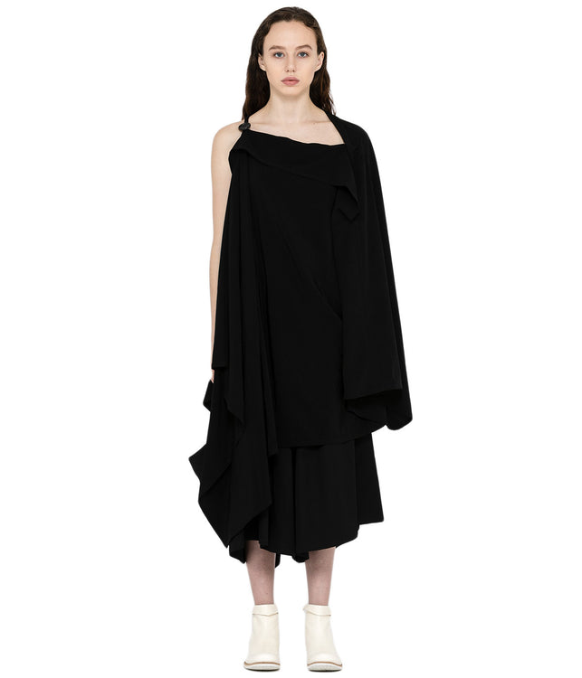 Black Asymmetrical Cape
