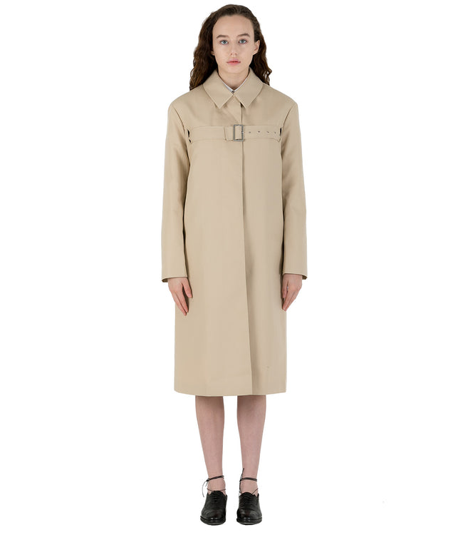 Camel Beige Belt Coat