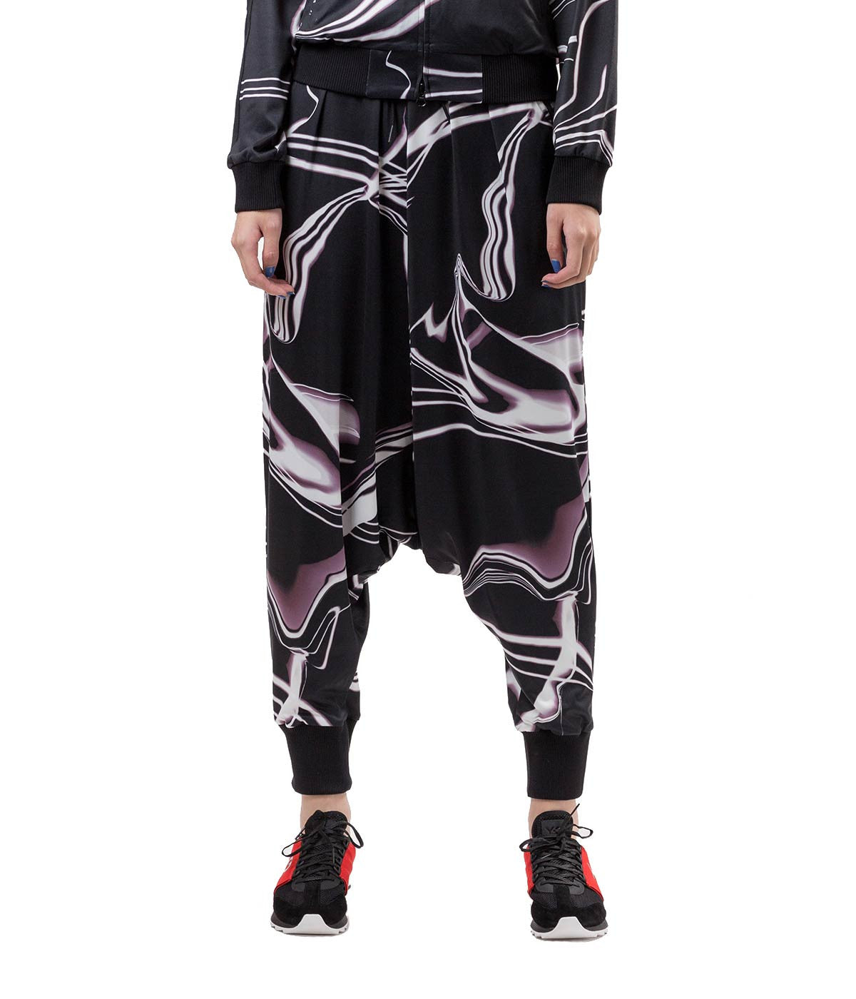 Extreme Dropped Crotch Printed Lounge Pants