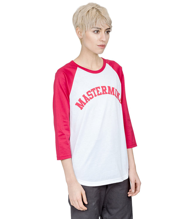Red Raglan 3/4 Sleeves Shirt
