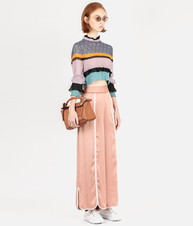 Multi Coloured Sheer Cropped Cardigan