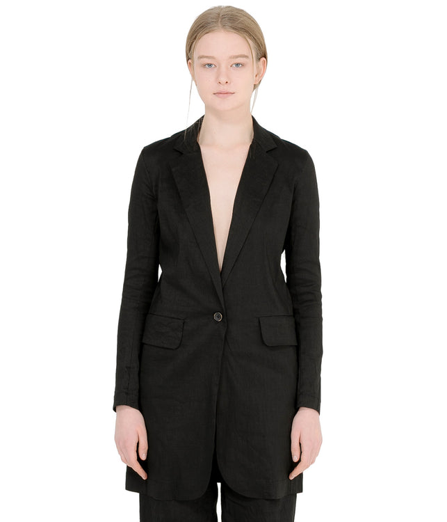 Black Linen Katia Jacket