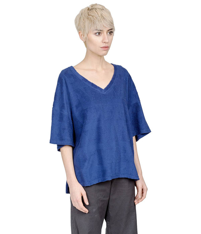 Blue Cropped T-Shirt