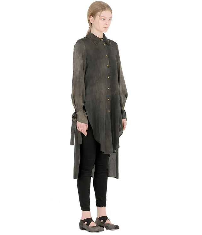 Grey Green Tionna Long Shirt