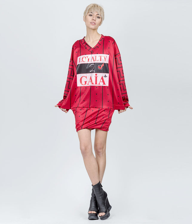 Oversized Red Loyalty 2 Gaia Dress