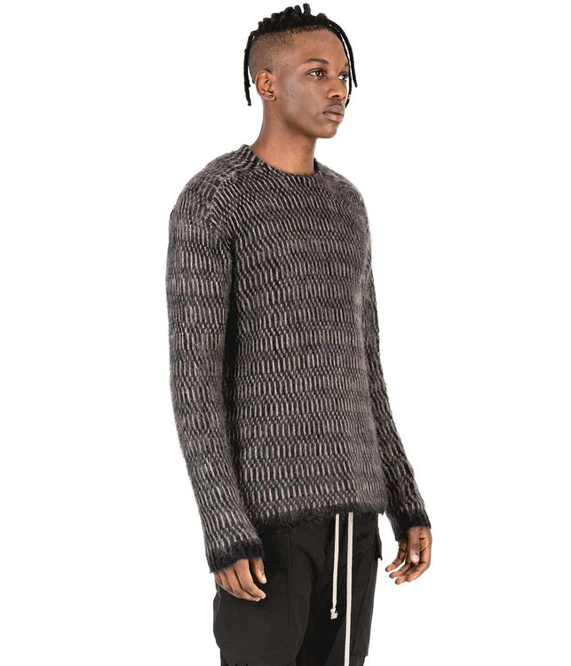 Black Striped Mohair Sweater