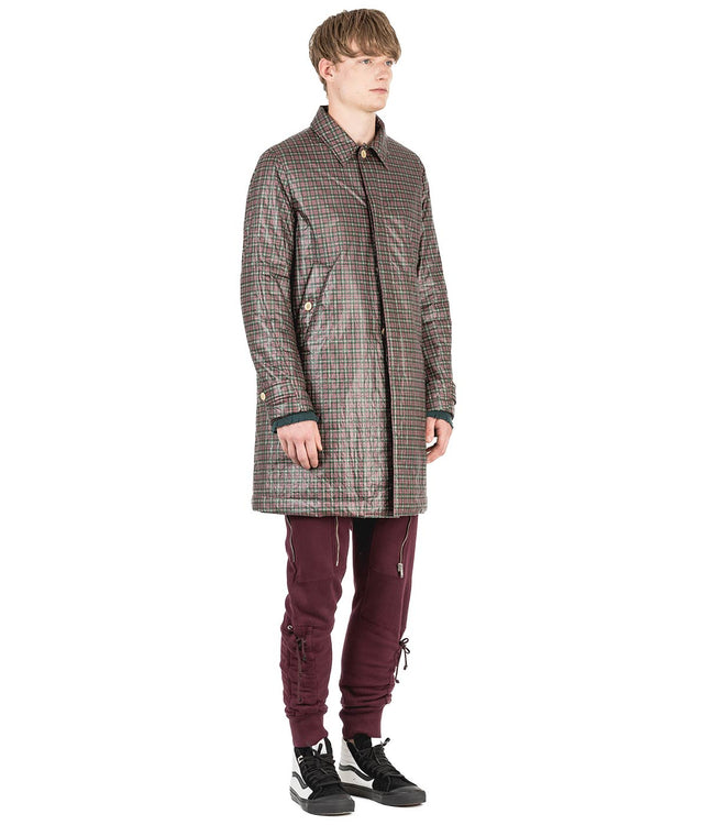 Red Checkered Primaloft Coat