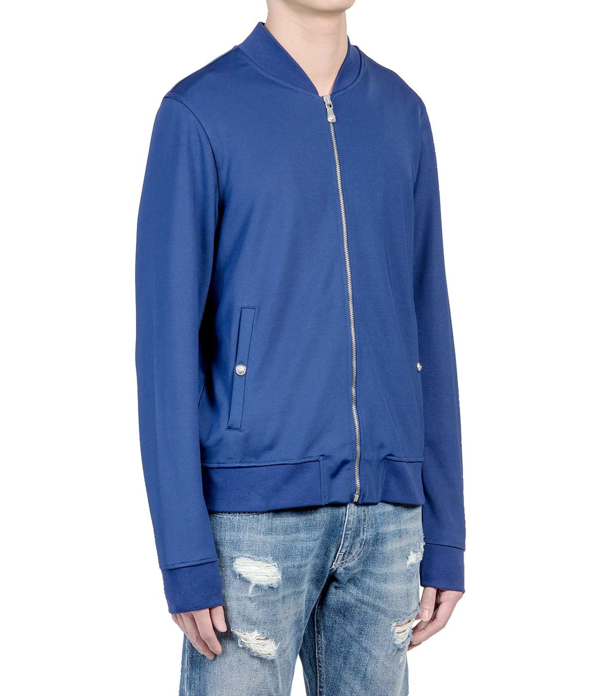 Blue Back Logo Bomber Jacket