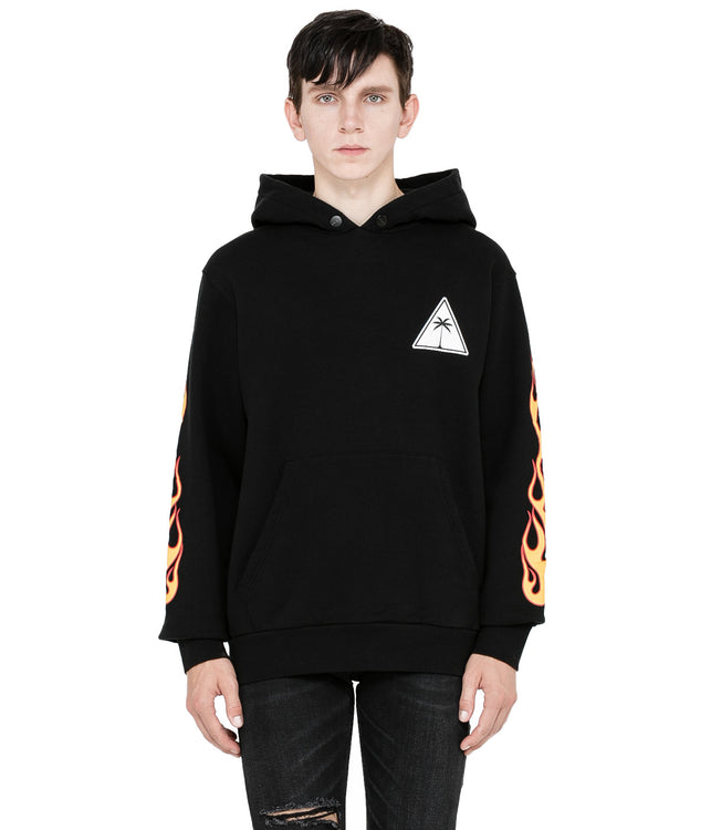 Black Palms and Flames Hoodie