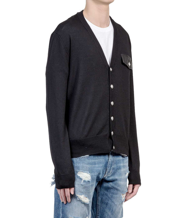 Black Patch Cardigan