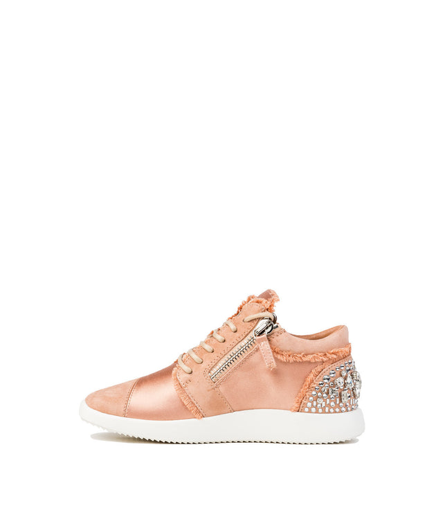Pink Sateen Sneakers