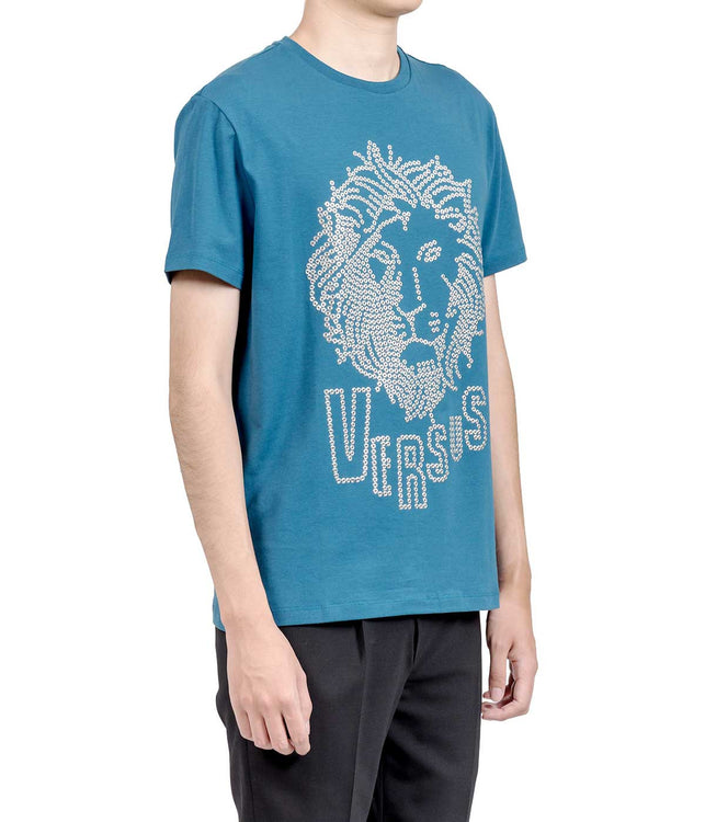 Blue Riveted Lion T-shirt