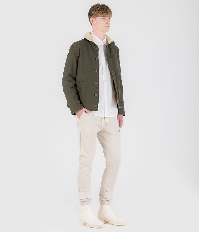 Khaki Shearling Jacket