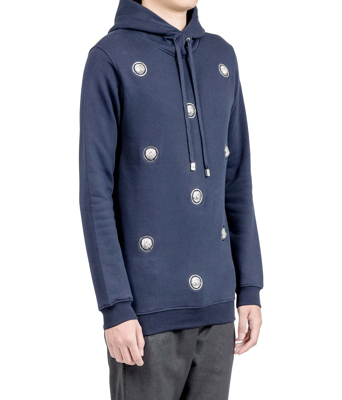 Navy Studded Lion Hoodie