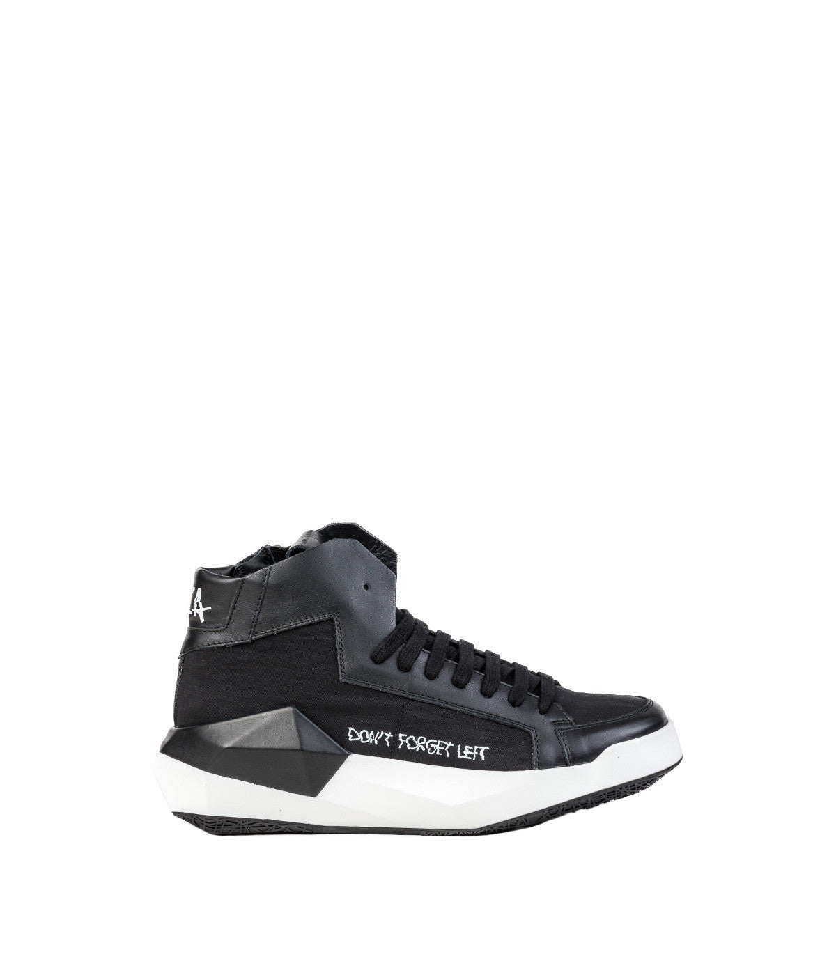 Black Geometrical High-Top Sneakers