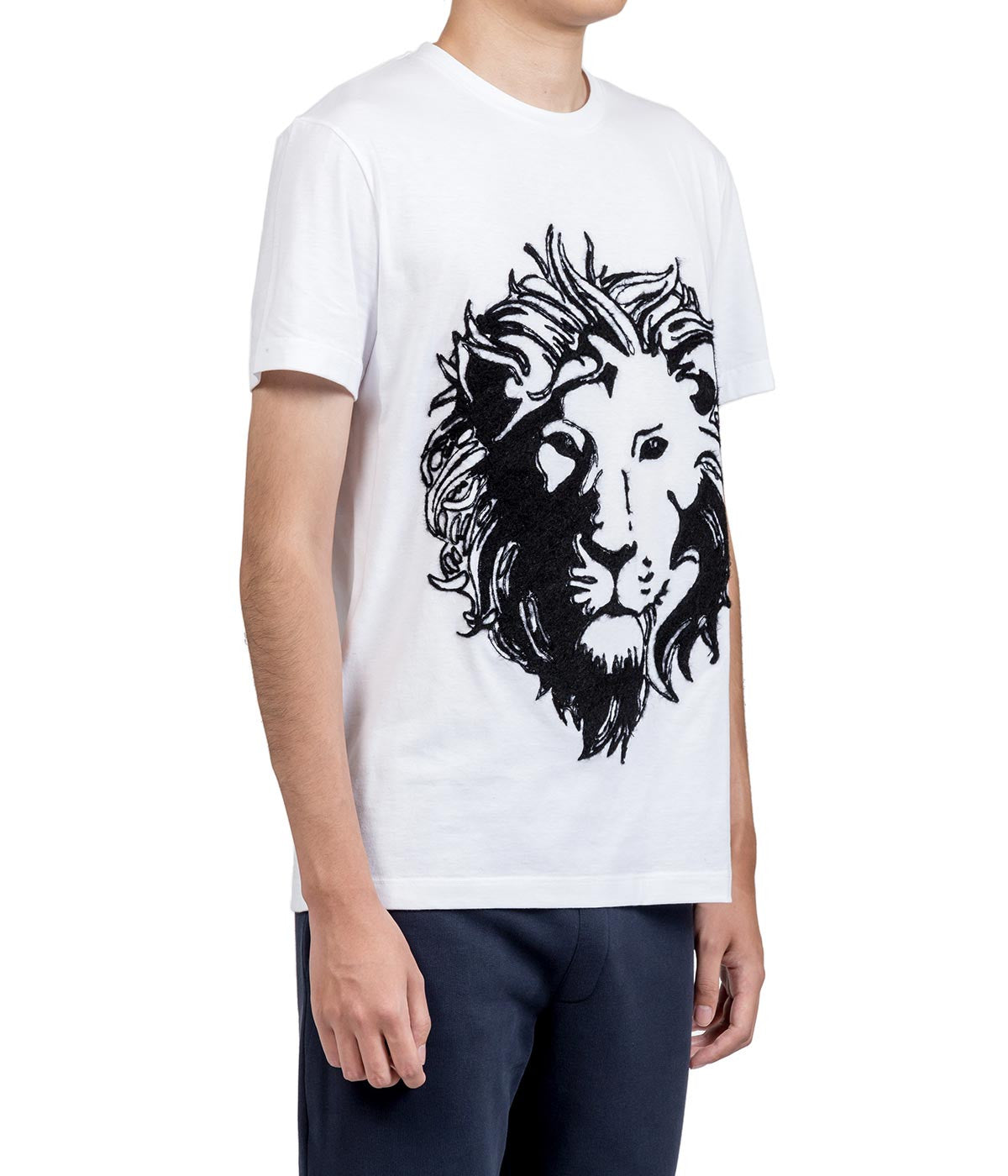 White Felted Logo T-shirt