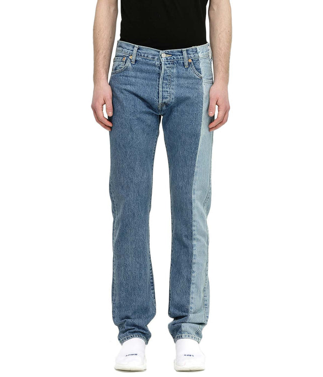 Blue Side Panel Denim Jeans