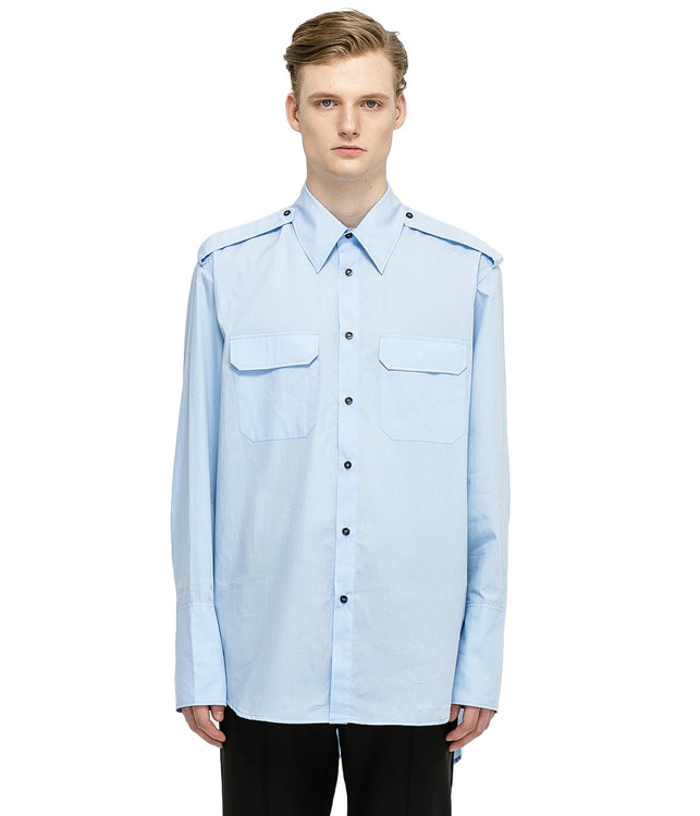 Light Blue Police Shirt