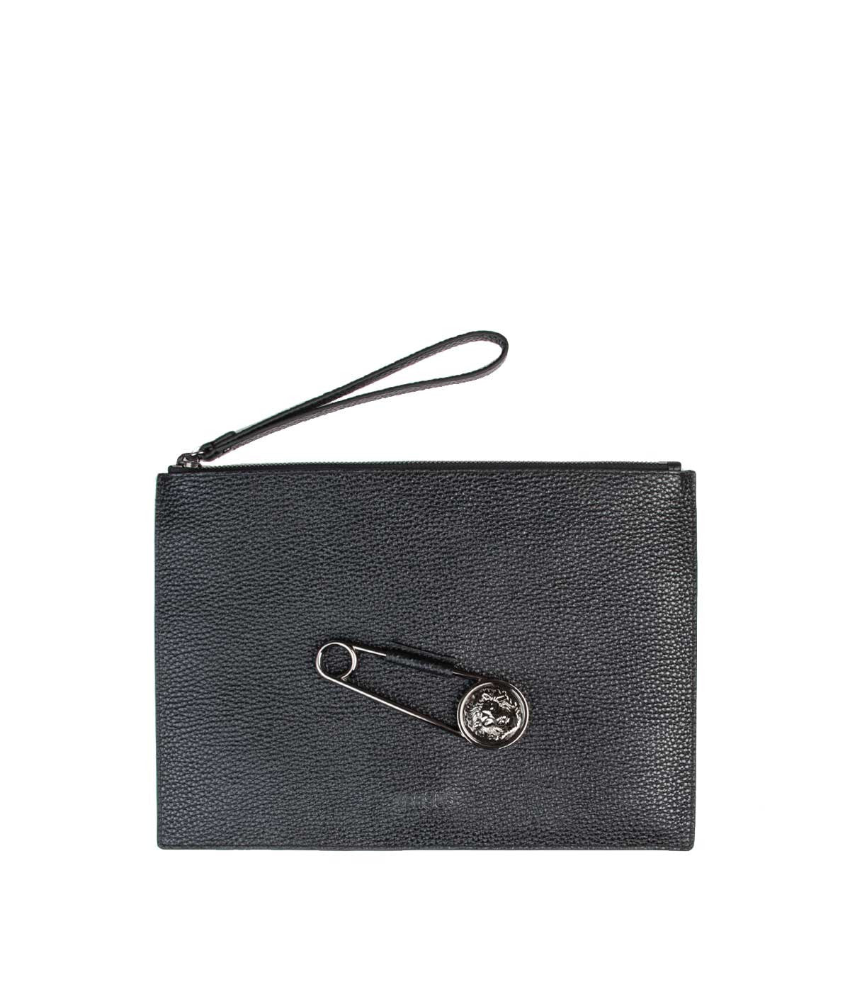 Black Safety Pin Clutch