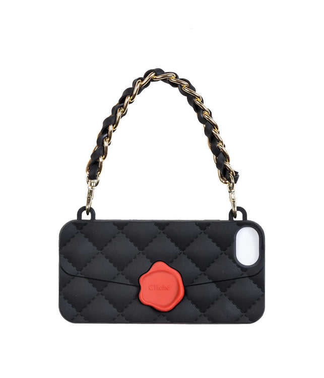 Black Quilted Purse iPhone 7 Case