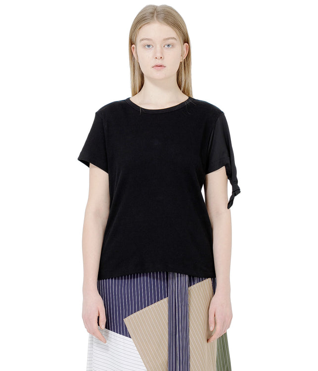 Black Asymmetrical T-Shirt