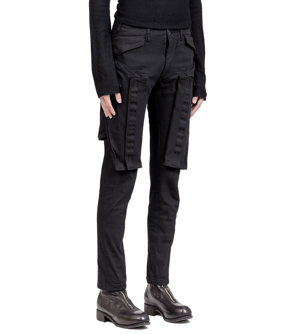Slim Stretch Denim Cargo Pants