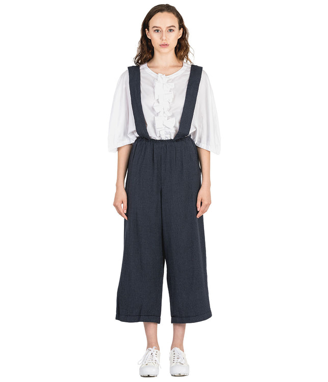 Navy Pinafore Suspender Pants