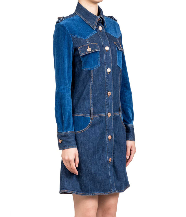 Washed Indigo Denim Dress