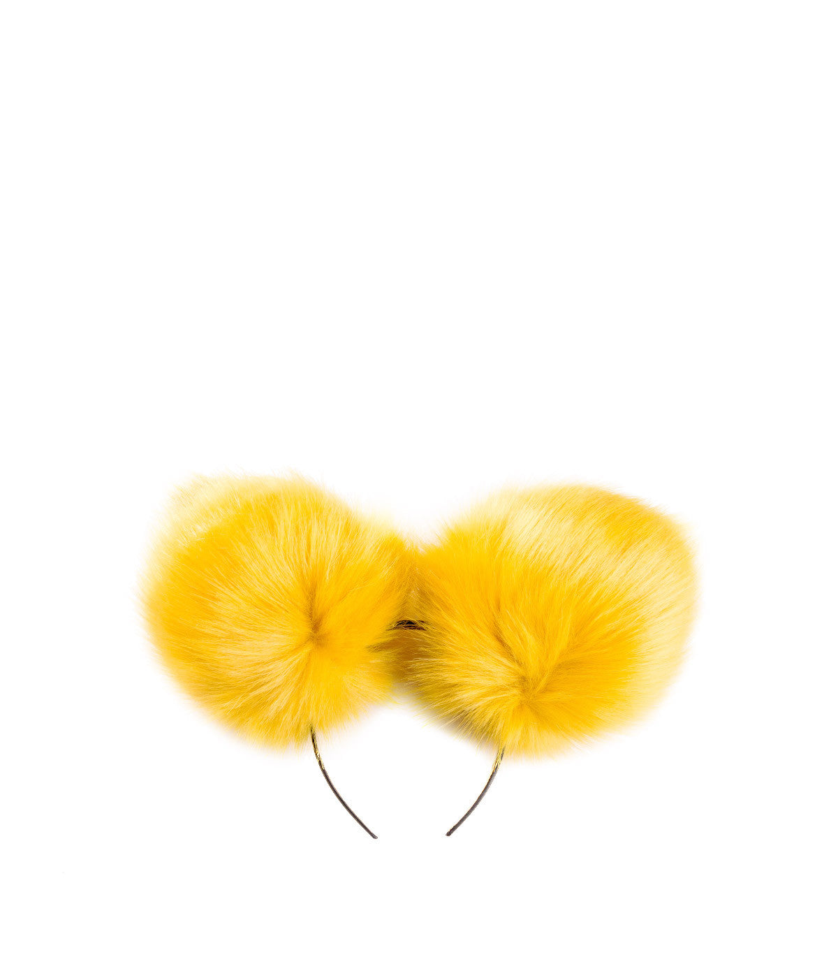 Yellow Double Pompom Headband