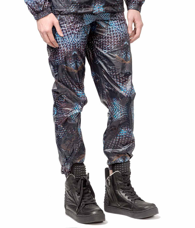 Printed Nylon Track Pants