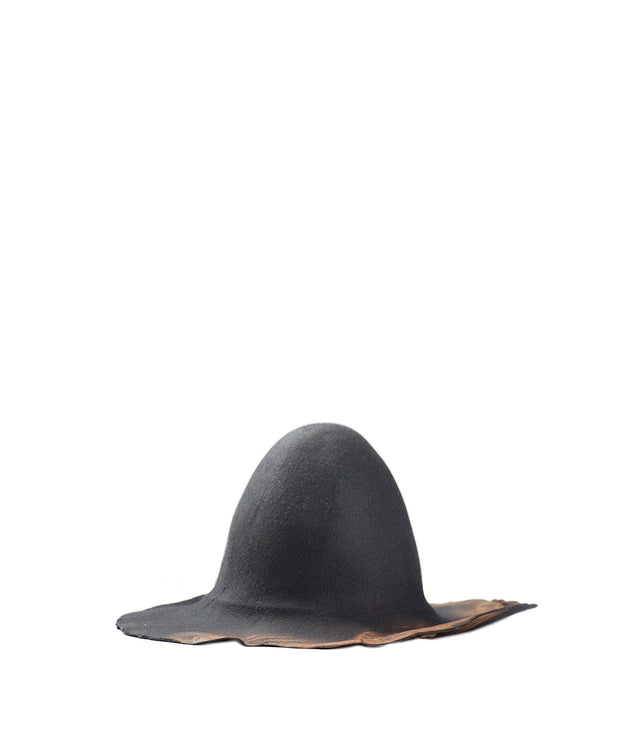 Black Burned Hat