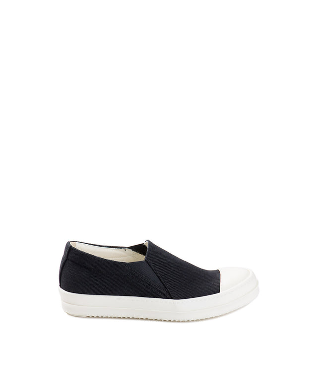 Black Canvas Boat Sneakers