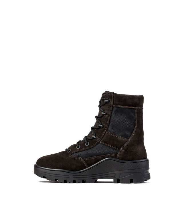 Oil Brown Combat Boots