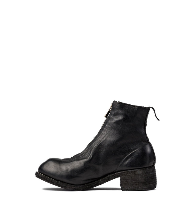 Black Soft Full Grain Ankle Boots