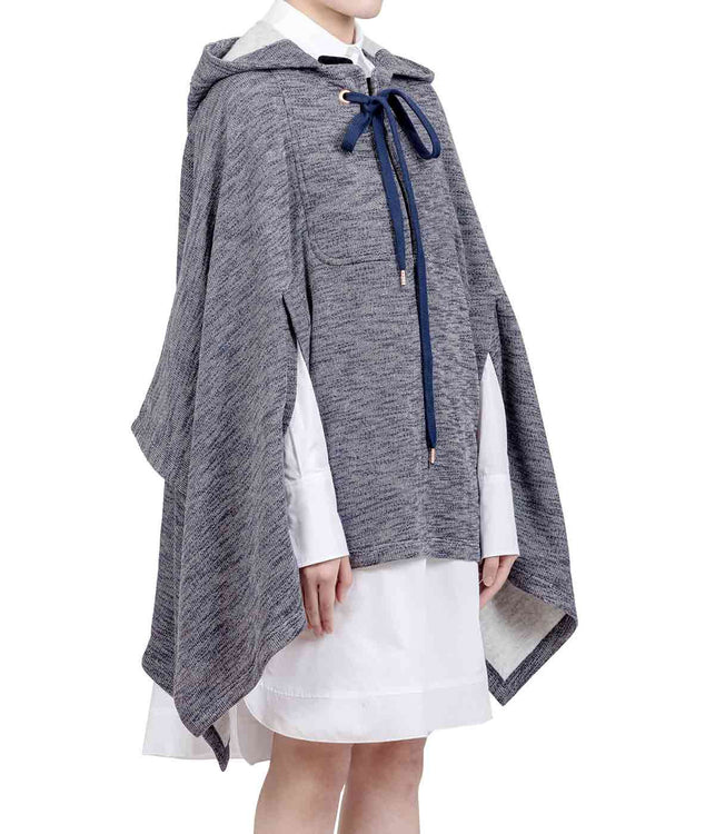 Ink Hooded Poncho