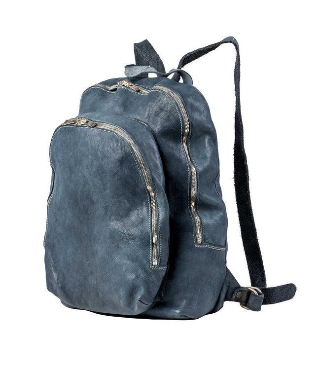 Blue Vintage Leather Backpack