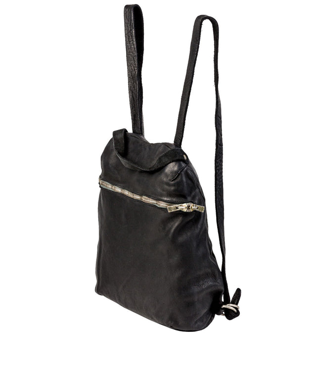 Black Full Grain Horse Leather Backpack