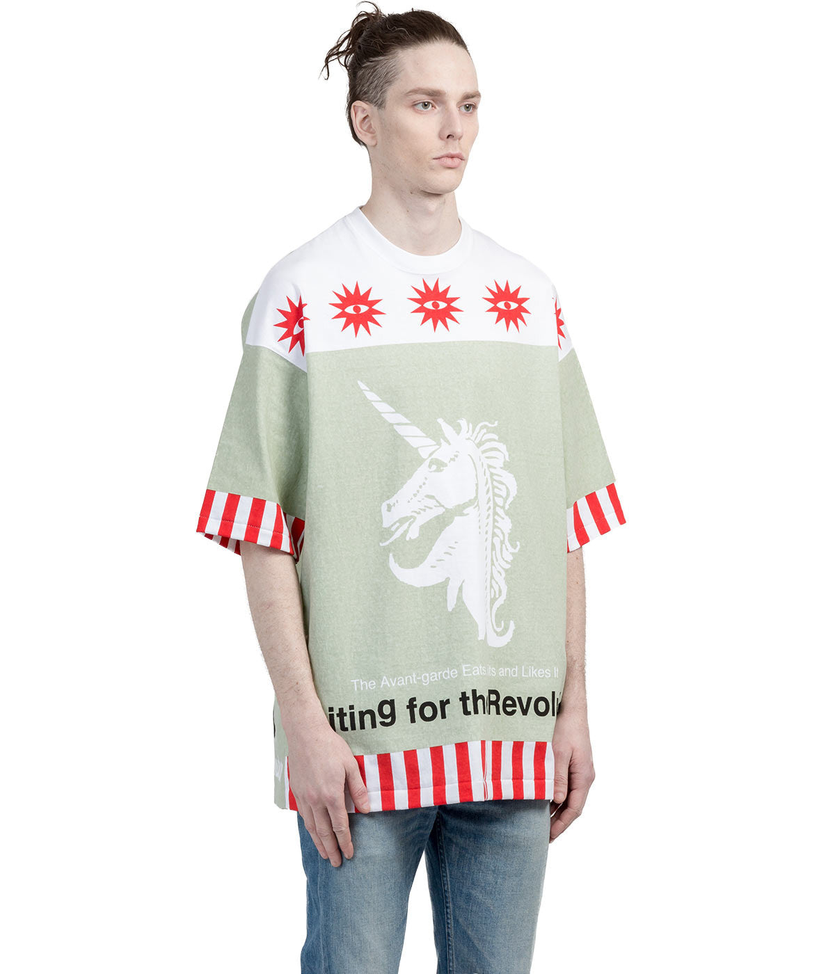 Green Oversized Graphic T-Shirt