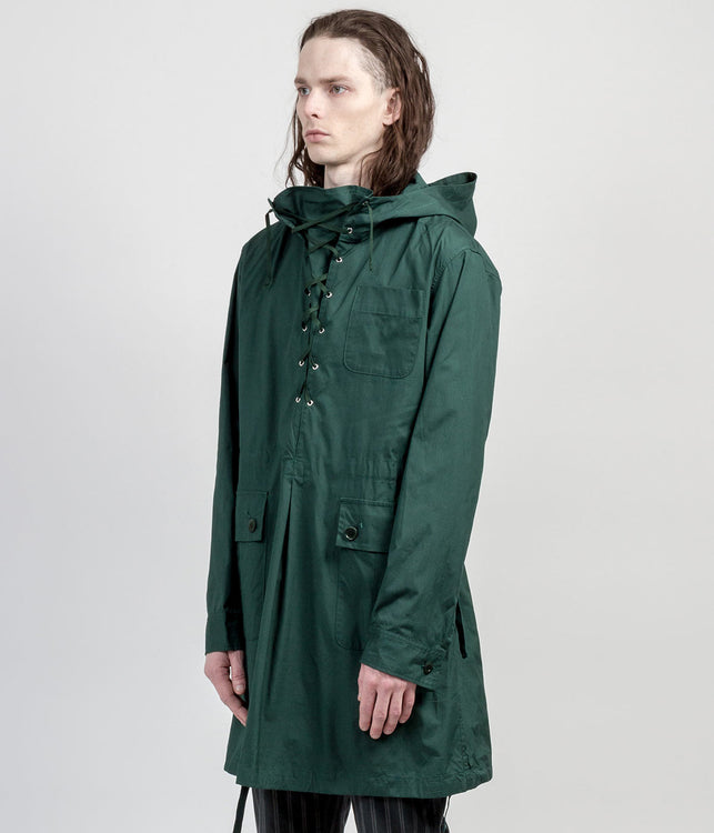 Dark Green Hood Jacket