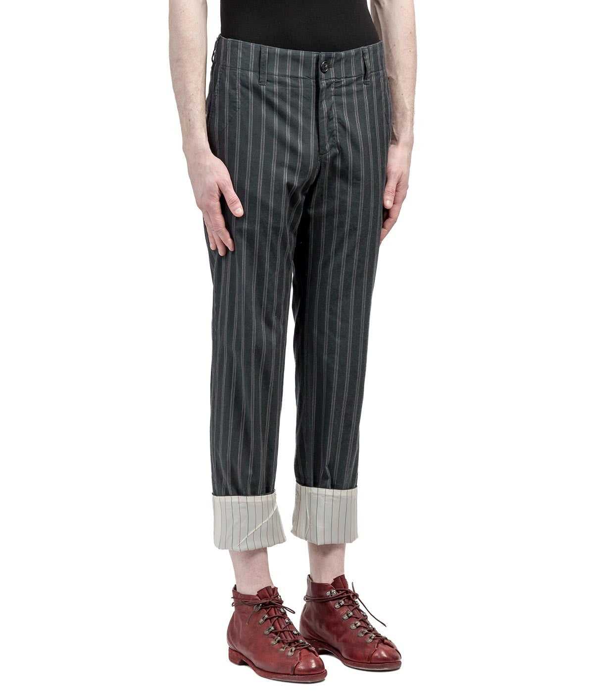 Black Pinstripe Pants