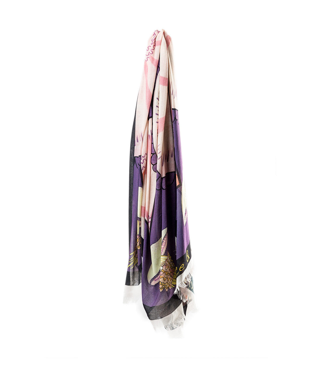 Extra Large Printed Silk Scarf