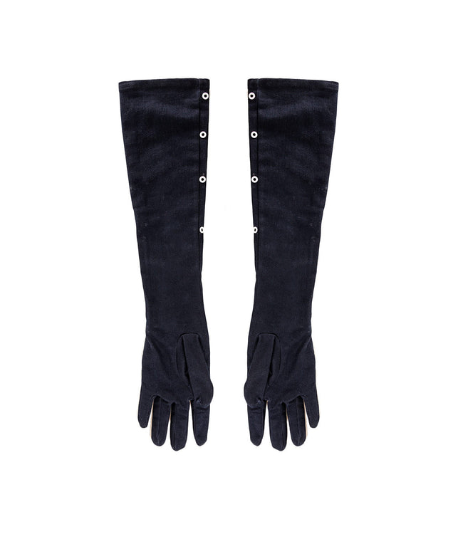 Denim Gloves with Rivets