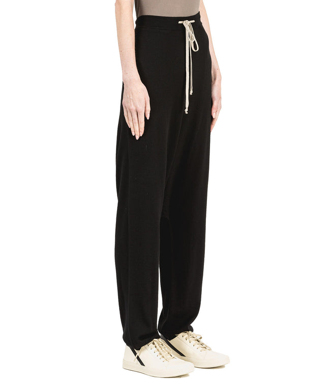 Black Wool Knit Pants