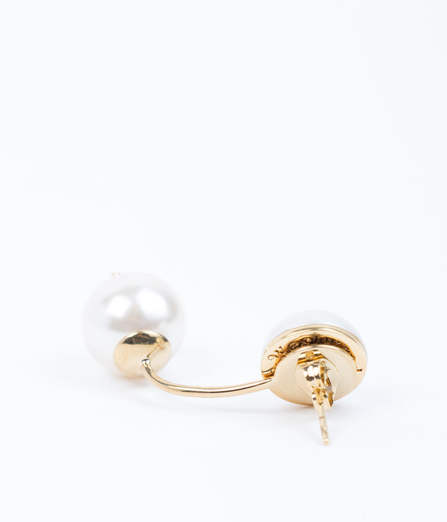 White Pearl Demi Earrings