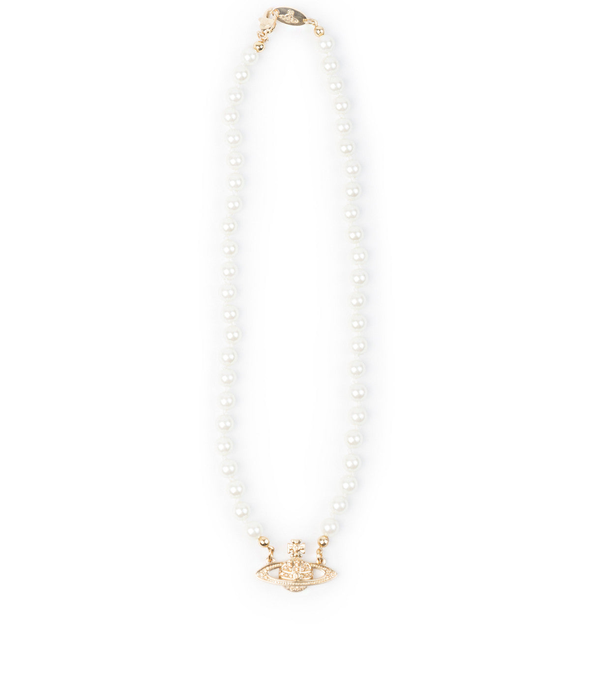 Yellow Gold Pearl Chocker Necklace