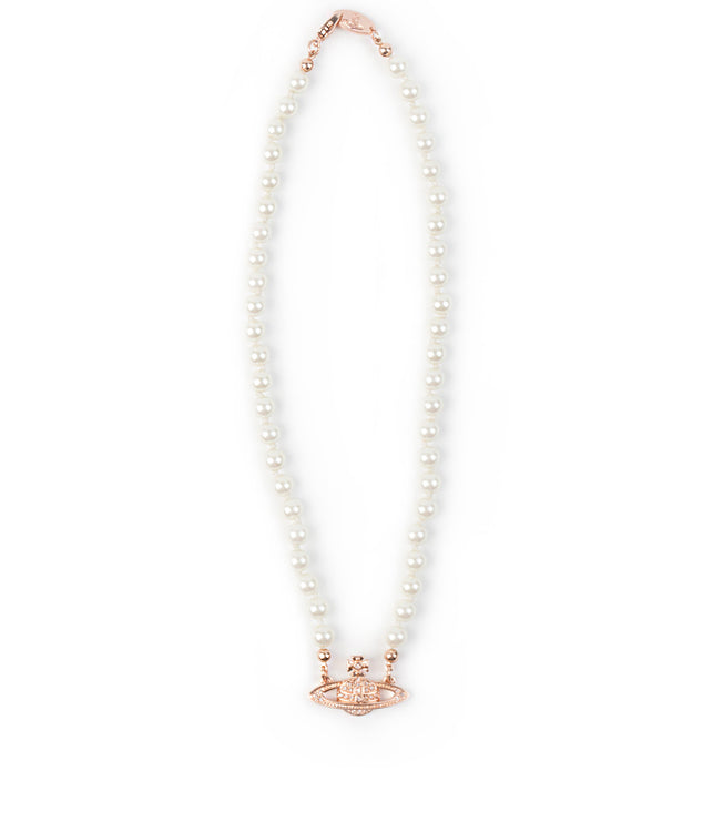 Pink Gold Pearl Chocker Necklace