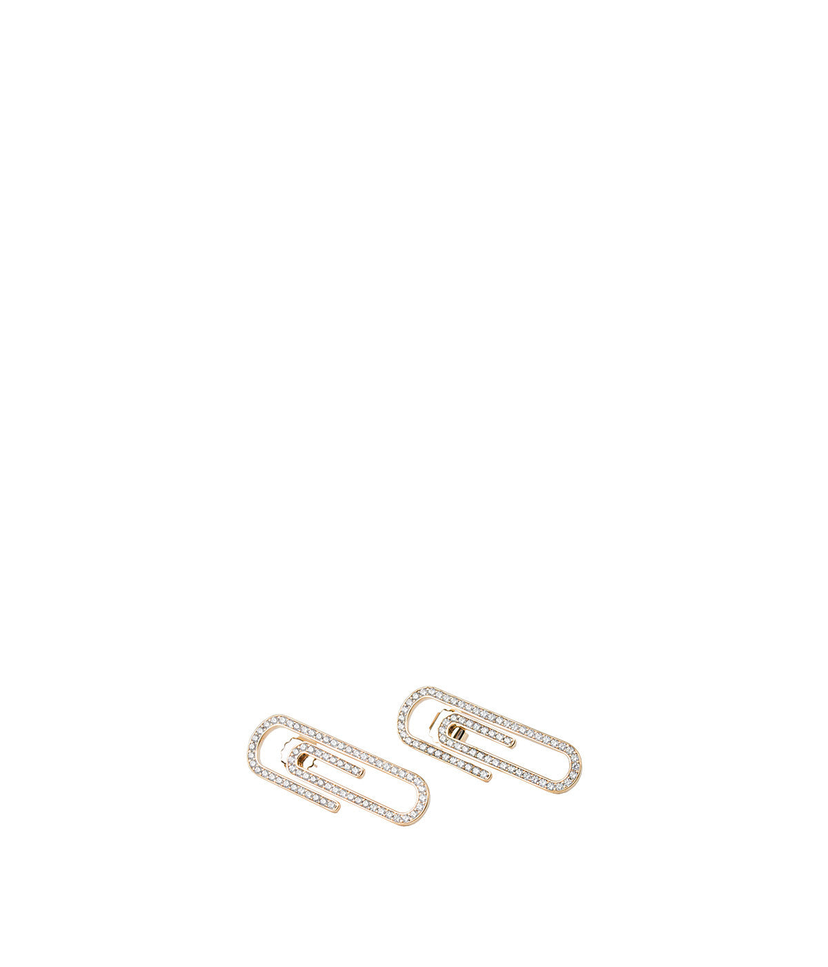 Yellow Gold Doreen Paperclips Earrings