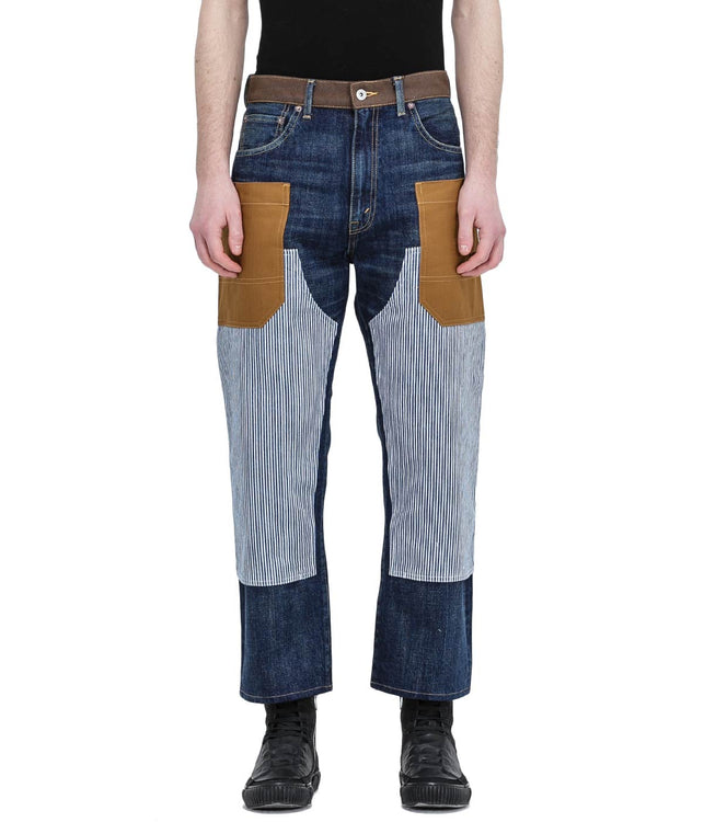 Blue Stripe Patch Denim Jeans