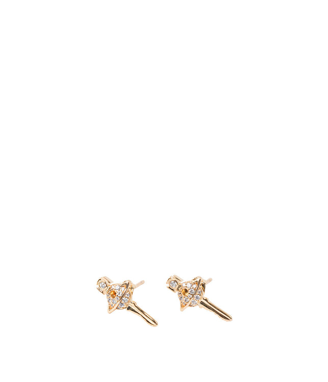 Yellow Gold Darianne Petite Key Earrings
