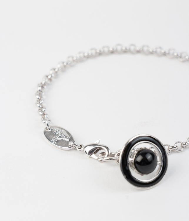 Black Mini 3D Orb Iona Bracelet